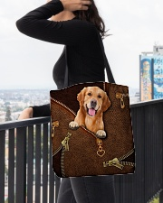 Golden Retriever   All-over Tote aos-all-over-tote-lifestyle-front-05