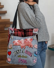 Just A Girl Who Loves Pigs All-over Tote aos-all-over-tote-lifestyle-front-09
