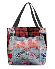 Just A Girl Who Loves Pigs All-over Tote back