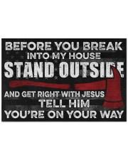 """Firefighter Jesus Before You Break Into My House Doormat 22.5"""" x 15""""  front"""