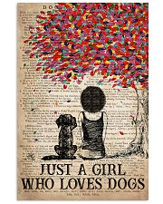 Dog Just A Girl Who Loves Dog  11x17 Poster front