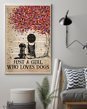 Dog Just A Girl Who Loves Dog  11x17 Poster lifestyle-poster-1