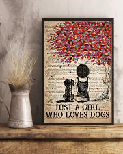 Dog Just A Girl Who Loves Dog  11x17 Poster lifestyle-poster-3