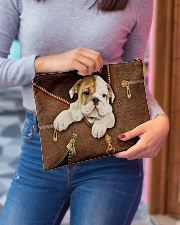 English Bull Dog Zip Accessory Pouch - Large aos-accessory-pouch-12-5x8-5-lifestyle-front-02