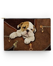 English Bull Dog Zip Accessory Pouch - Large back