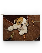 English Bull Dog Zip Accessory Pouch - Large front