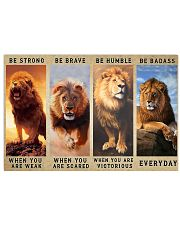 Lion - Be Strong 17x11 Poster front