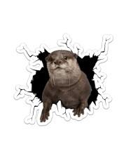 Otter Crack Sticker - Single (Vertical) front