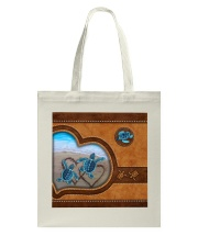 Turtle lover couple leather Tote Bag thumbnail