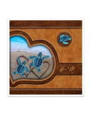 Turtle lover couple leather Sticker - Single (Vertical) thumbnail