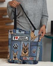 German Shepherd Jean Pattern All-Over Tote All-over Tote aos-all-over-tote-lifestyle-front-10