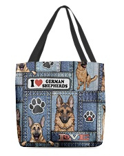 German Shepherd Jean Pattern All-Over Tote All-over Tote back