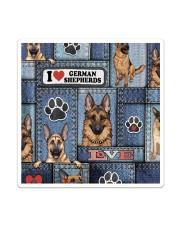 German Shepherd Jean Pattern All-Over Tote Sticker tile