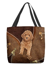 Poodle  All-over Tote back