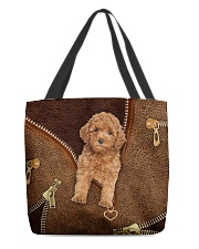 Poodle  All-over Tote front