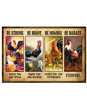 Rooster - Be Strong 17x11 Poster thumbnail