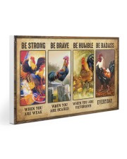 Rooster - Be Strong 30x20 Gallery Wrapped Canvas Prints thumbnail