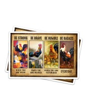 Rooster - Be Strong Sticker - 2 pack (Horizontal) thumbnail