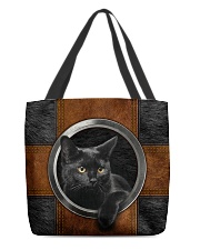 Black Cat Lover All-over Tote front