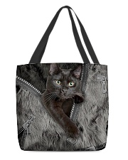 Black Cat Beauty All-over Tote front