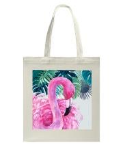 Flamingo Tropical Tote Bag tile