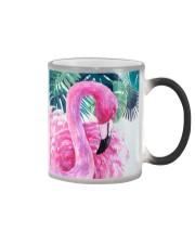 Flamingo Tropical Color Changing Mug tile
