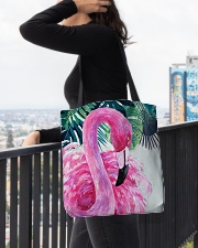 Flamingo Tropical All-over Tote aos-all-over-tote-lifestyle-front-05