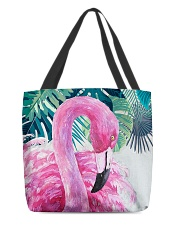 Flamingo Tropical All-over Tote back