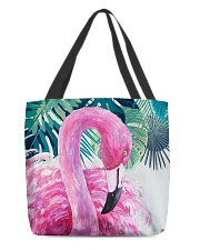 Flamingo Tropical All-over Tote front