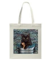Cute Black Cat Tote Bag thumbnail