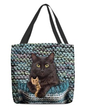 Cute Black Cat All-over Tote back