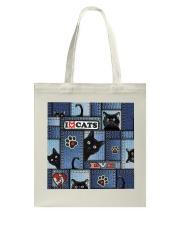 Cat Jean Pattern  Tote Bag thumbnail
