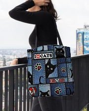 Cat Jean Pattern  All-over Tote aos-all-over-tote-lifestyle-front-05
