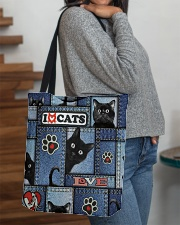 Cat Jean Pattern  All-over Tote aos-all-over-tote-lifestyle-front-09