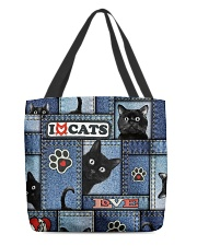 Cat Jean Pattern  All-over Tote back