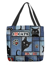 Cat Jean Pattern  All-over Tote front
