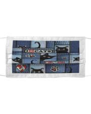 Cat Jean Pattern  Cloth face mask thumbnail