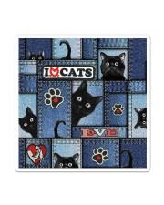 Cat Jean Pattern  Sticker - Single (Vertical) thumbnail