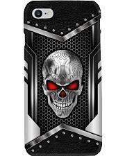 Skull Metal Leather Like Phone Case Phone Case i-phone-8-case