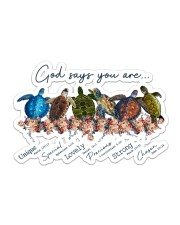 Turtle God Say You Are Sticker tile