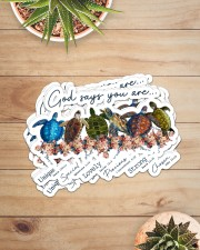 Turtle God Say You Are Sticker - 6 pack (Horizontal) aos-sticker-6-pack-horizontal-lifestyle-front-07