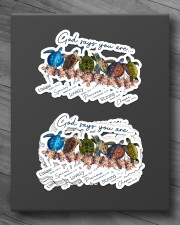 Turtle God Say You Are Sticker - 6 pack (Horizontal) aos-sticker-6-pack-horizontal-lifestyle-front-10