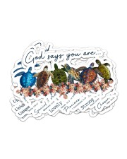 Turtle God Say You Are Sticker - 6 pack (Horizontal) front