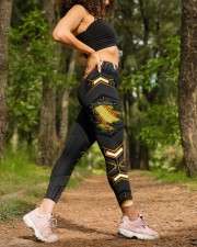 Softball Carbon Crack Leggings High Waist Leggings aos-high-waist-leggings-lifestyle-20