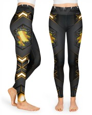 Softball Carbon Crack Leggings High Waist Leggings front