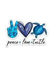 Peace Love Turtle Sticker - Single (Vertical) front