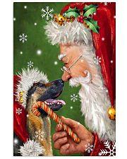 German Shepherd Smile With Santa 11x17 Poster thumbnail