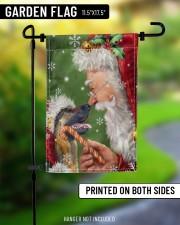 """German Shepherd Smile With Santa 11.5""""x17.5"""" Garden Flag aos-garden-flag-11-5-x-17-5-lifestyle-front-08"""