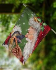 """German Shepherd Smile With Santa 11.5""""x17.5"""" Garden Flag aos-garden-flag-11-5-x-17-5-lifestyle-front-15"""