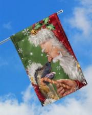 """German Shepherd Smile With Santa 11.5""""x17.5"""" Garden Flag aos-garden-flag-11-5-x-17-5-lifestyle-front-16"""